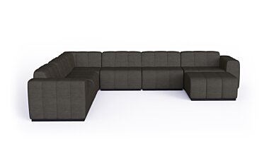 Connect Modular 7 U-Sofa Chaise Sectional Furniture - Studio Image by Blinde Design