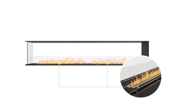 Flex 104PN Peninsula - Ethanol - Black / Black / Installed View by EcoSmart Fire