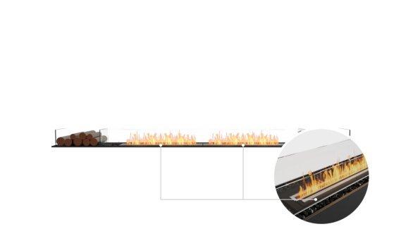 Flex 122BN.BX2 Bench - Ethanol - Black / Black / Installed View by EcoSmart Fire