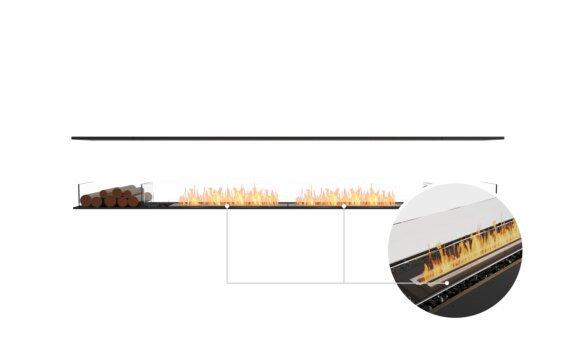 Flex 122IL.BX2 Island - Ethanol - Black / Black / Installed View by EcoSmart Fire