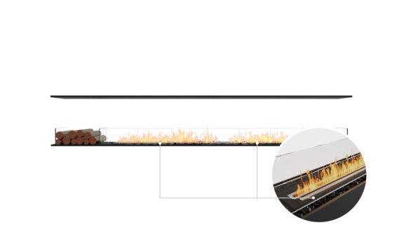 Flex 122IL.BX1 Island - Ethanol - Black / Black / Installed View by EcoSmart Fire