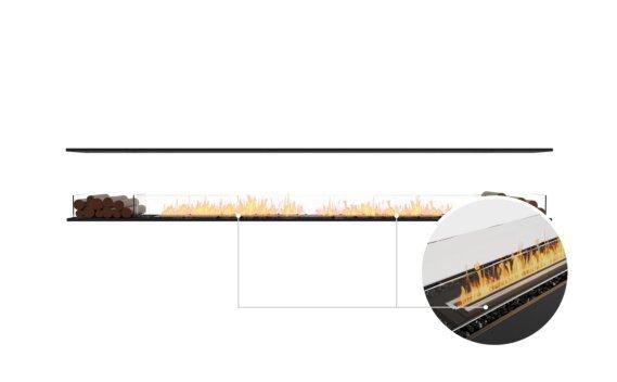 Flex 140IL.BX2 Island - Ethanol - Black / Black / Installed View by EcoSmart Fire