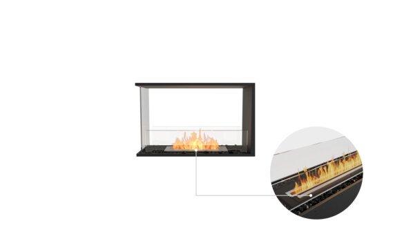 Flex 32PN Peninsula - Ethanol - Black / Black / Installed View by EcoSmart Fire