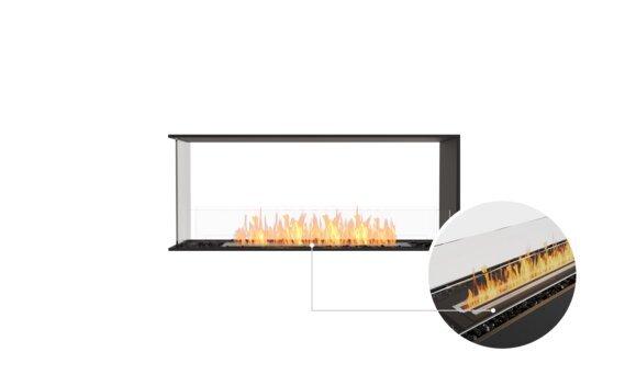 Flex 50PN Peninsula - Ethanol - Black / Black / Installed View by EcoSmart Fire