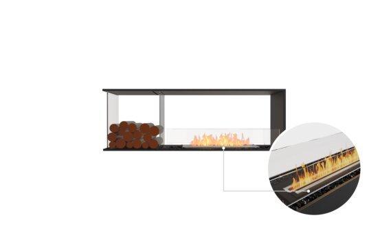 Flex 60PN.BXL Peninsula - Ethanol - Black / Black / Installed View by EcoSmart Fire