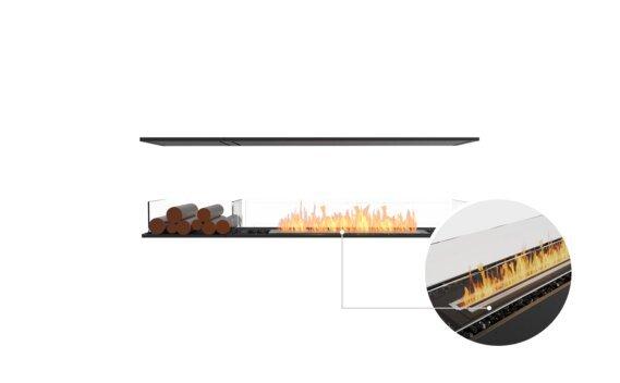 Flex 68IL.BX1 Island - Ethanol - Black / Black / Installed View by EcoSmart Fire