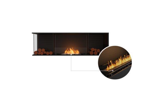 Flex 68LC.BX2 Left Corner - Ethanol - Black / Black / Installed View by EcoSmart Fire