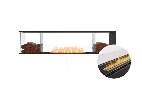 Flex 86PN.BX2 Peninsula - Ethanol - Black / Black / Installed View by EcoSmart Fire
