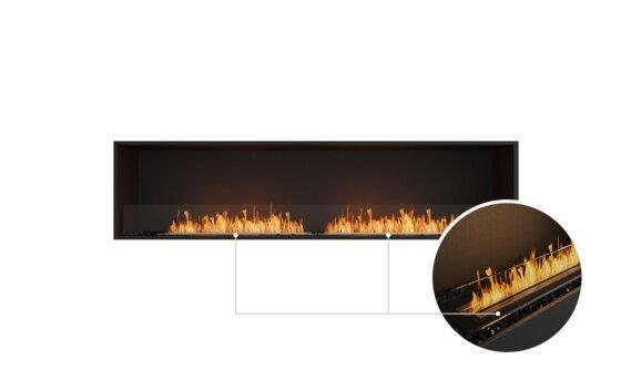 Flex 86SS Single Sided - Ethanol - Black / Black / Installed View by EcoSmart Fire