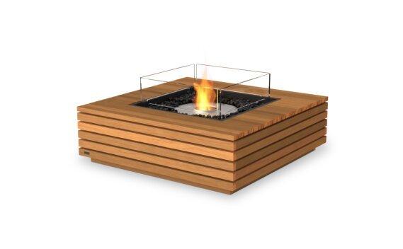 Base 40 Fire Pit - Ethanol / Teak / Optional Fire Screen by EcoSmart Fire