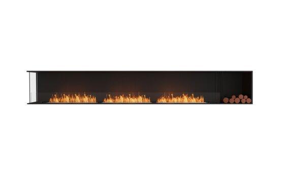 Flex 140LC.BXR Left Corner - Ethanol / Black / Installed View by EcoSmart Fire