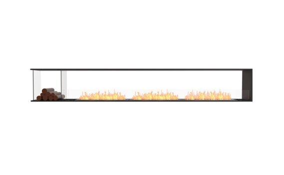 Flex 140PN.BXL Peninsula - Ethanol / Black / Installed View by EcoSmart Fire