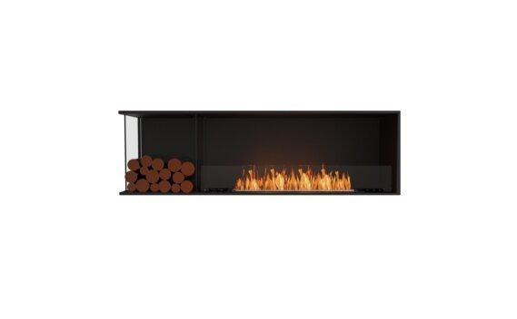 Flex 68LC.BXL Left Corner - Ethanol / Black / Installed View by EcoSmart Fire