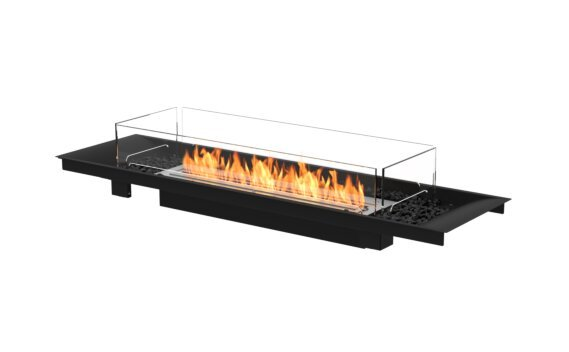 Linear Curved 65 Fireplace Insert - Ethanol / Black / Indoor Safety Tray by EcoSmart Fire