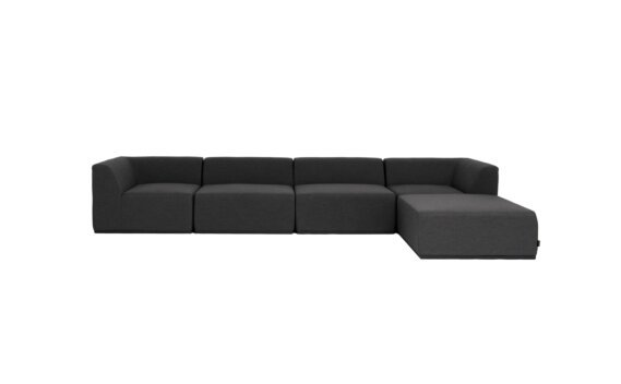 Relax Modular 5 Sofa Chaise Furniture - Sooty by Blinde Design