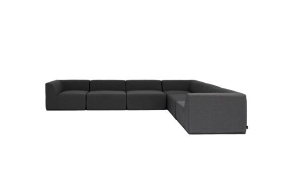Relax Modular 6 L-Sectional Furniture - Sooty by Blinde Design