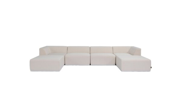 Relax Modular 6 U-Chaise Sectional Furniture - Canvas by Blinde Design
