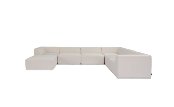 Relax Modular 7 U-Sofa Chaise Sectional Furniture - Canvas by Blinde Design