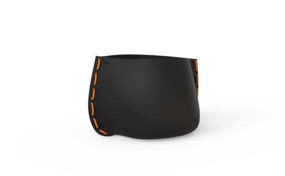 Stitch 50 Planter - Graphite / Orange by Blinde Design