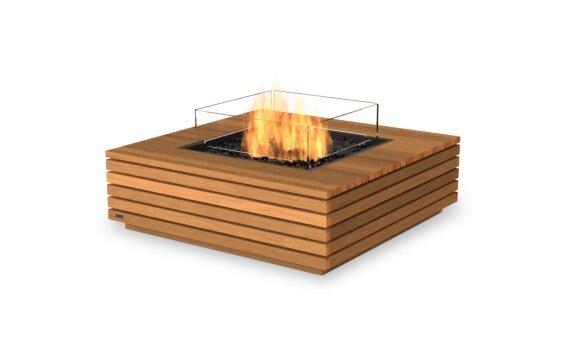 Base 40 Fire Pit - Gas LP/NG / Teak by EcoSmart Fire