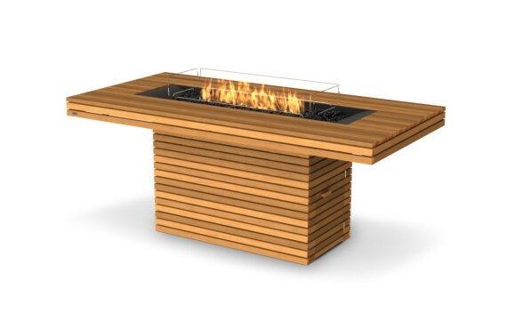 Gin 90 (Bar) Fire Pit - Gas LP/NG / Teak by EcoSmart Fire