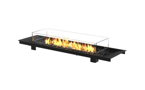 Linear Curved 65 Fireplace Insert - Gas LP/NG / Black by EcoSmart Fire