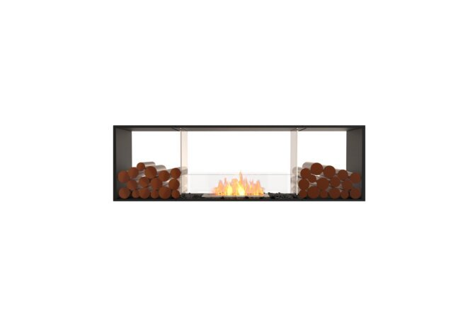 Flex 68DB.BX2 Double Sided - Ethanol / Black / Installed View by EcoSmart Fire