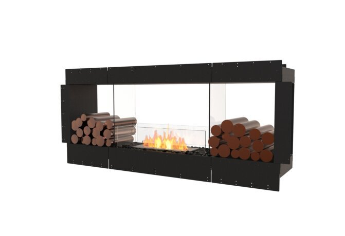 Flex 68DB.BX2 Double Sided - Ethanol / Black / Uninstalled View by EcoSmart Fire