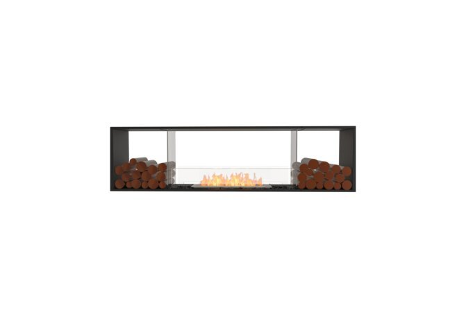 Flex 78DB.BX2 Double Sided - Ethanol / Black / Installed View by EcoSmart Fire