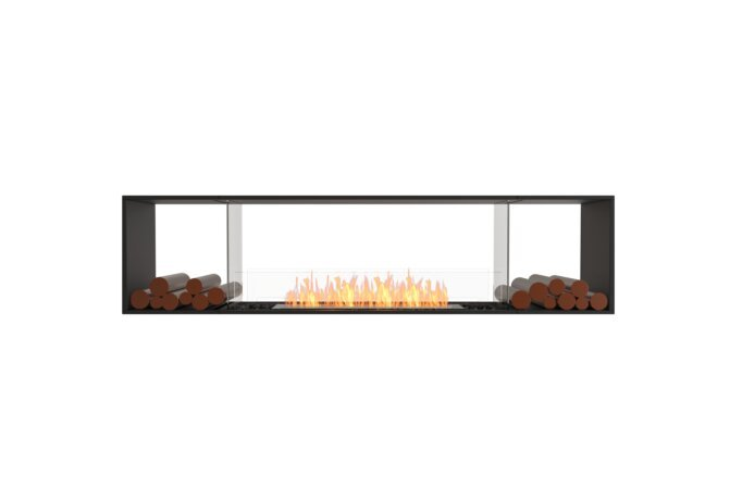 Flex 86DB.BX2 Double Sided - Ethanol / Black / Installed View by EcoSmart Fire