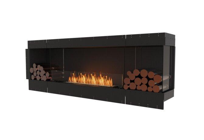 Flex 86RC.BX2 Right Corner - Ethanol / Black / Uninstalled View by EcoSmart Fire