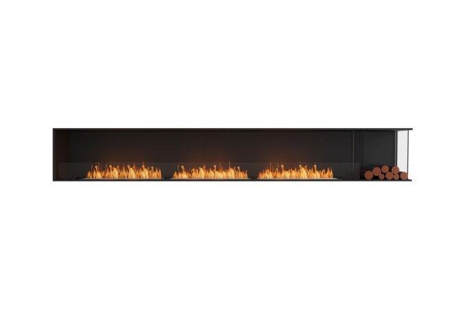 Flex 140RC.BXR Right Corner - Ethanol / Black / Installed View by EcoSmart Fire