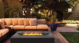 Flo Fire Pit Table - In-Situ Image by Brown Jordan Fires