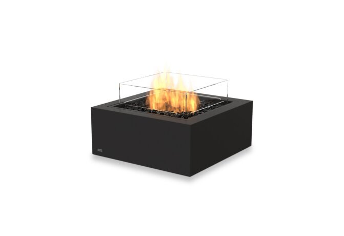 Base 30 Fire Pit - Gas LP/NG / Graphite / *Optional Fire Screen by EcoSmart Fire