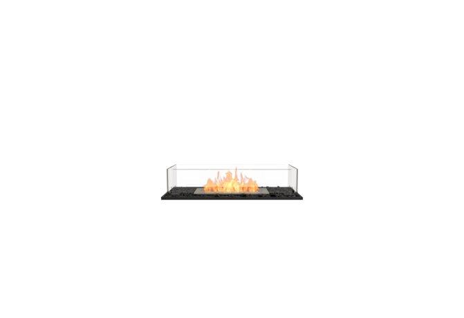 Flex 32BN Bench - Ethanol / Black / Installed View by EcoSmart Fire