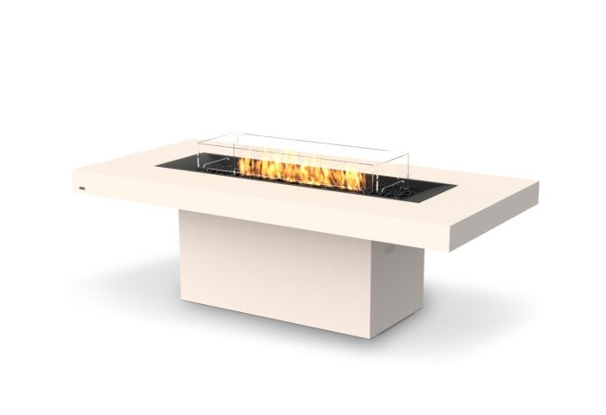 Gin 90 (Dining) Fire Pit - Gas LP/NG / Bone by EcoSmart Fire