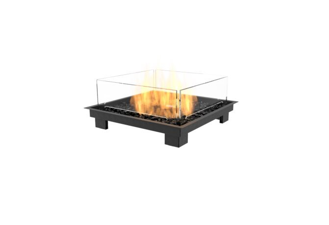 Square 22 Fireplace Insert - Gas LP/NG / Black by EcoSmart Fire