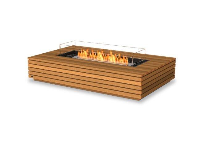 Wharf 65 Fire Pit - Ethanol / Teak / Optional Fire Screen by EcoSmart Fire