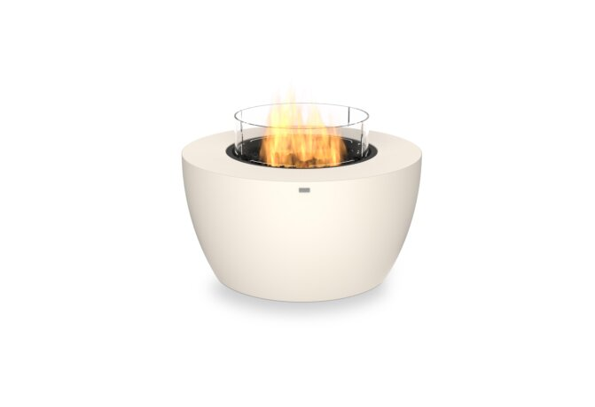 Pod 40 Fire Pit - Gas LP/NG / Bone / Optional Fire Screen by EcoSmart Fire