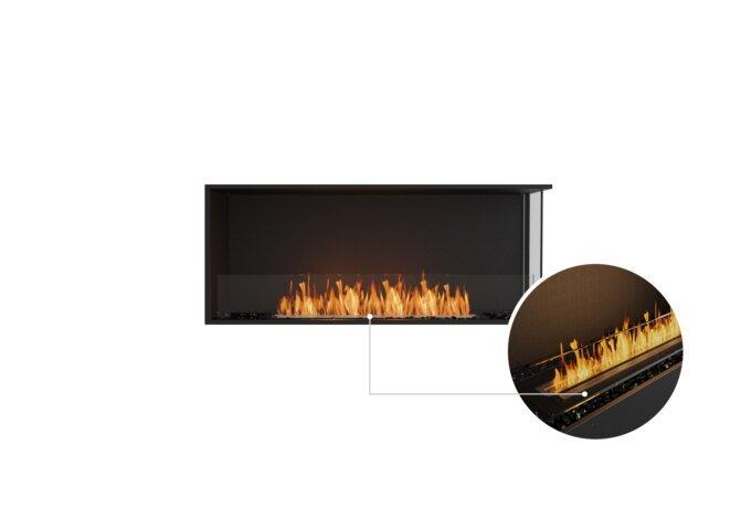 Flex 50RC Right Corner - Ethanol - Black / Black / Installed View by EcoSmart Fire