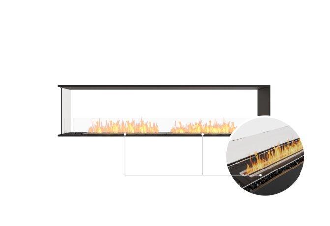 Flex 86PN Peninsula - Ethanol - Black / Black / Installed View by EcoSmart Fire