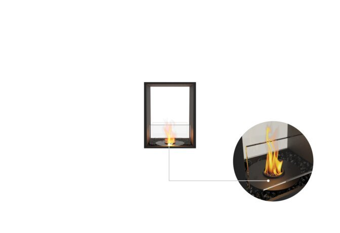 Flex 18DB Double Sided - Ethanol - Black / Black / Installed View by EcoSmart Fire