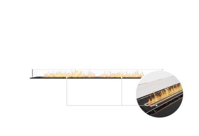 Flex 104BN Bench - Ethanol - Black / Black / Installed View by EcoSmart Fire