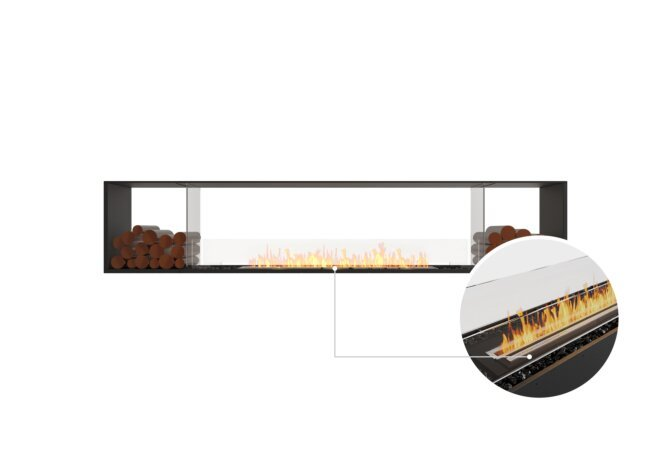 Flex 104DB.BX2 Double Sided - Ethanol - Black / Black / Installed View by EcoSmart Fire