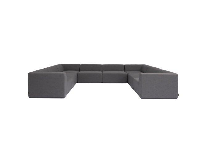 Relax Modular 8 U-Sofa Sectional Modular Sofa - Flanelle by Blinde Design