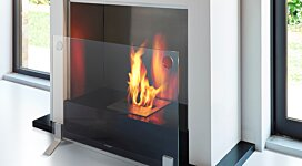 Plasma Fire Screen Fireplace Screen - In-Situ Image by MAD Design Group