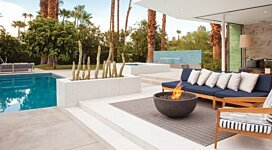 Urth Fire Pit Bowl - In-Situ Image by Brown Jordan Fires